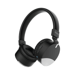 ICONZ Bazix Foldable Bluetooth Headphone With Microphone, Black/Silver - XOE02KS
