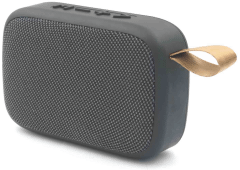 ICONZ Stylish Fabric Bluetooth Speaker, Black - XSP02K