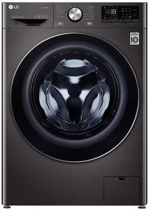 LG Front Load Automatic Washing Machine With Dryer, 9 KG, Black Steel- F4R5VGG2E