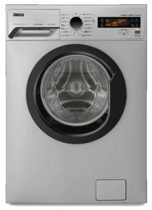 Zanussi Front Load Automatic Washing Machine, 8 KG, Inverter Motor, Silver- ZWF8251SBV