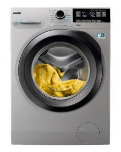 Zanussi Front Load Washing Machine, 9 KG, Silver - ZW7F3946LS