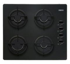 Zanussi Built-In Gas Hob, 4 Burners, Black Glass, 60 cm - ZGO62414BA