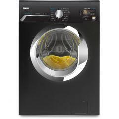 Zanussi Front Load Washing Machine, 8KG, Black - ZWF8251BXV